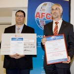 AFCEA awards for MAS students M. Valdenegro and S. Alexandrov